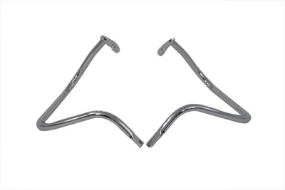 Chrome Rear Engine Bar Set for FL 1968-1984 Harley Big Twin