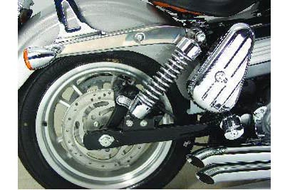 Black 1 in. Rear Shock Lowering Kit for FXD 2006-UP Harley DYNA